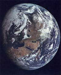 Zond-7 Photo of Earth