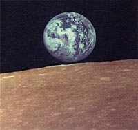 Zond-7 Photo of Earth and Moon