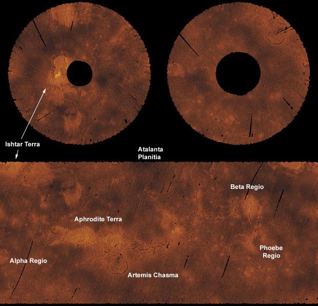 Radio Science And Venus - Altimeter map